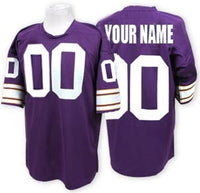 Customizable Minnesota Vikings Pro Style Football Jersey