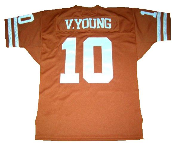 Vince Young Texas Longhorns Throwback Jersey (In-Stock) Size 3XL/56 Chest