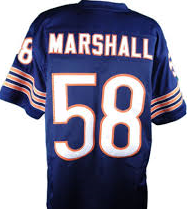 Wilbur Marshall Chicago Bears Throwback Football Jersey