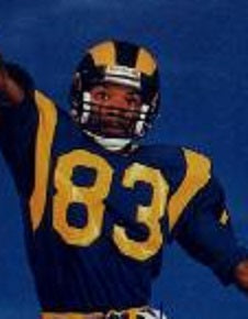 bac2e6b0 Willie Flipper Anderson Los Angeles Rams Throwback Football Jersey