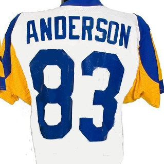 pick up f2b63 72074 Willie Flipper Anderson Los Angeles Rams Throwback Football Jersey