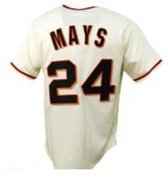 Willie Mays San Francisco Giants Home Throwback Jersey