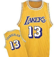 Wilt Chamberlain Los Angeles Lakers Throwback Basketball Jersey