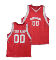 Wisconsin Badgers College Style Customizable Jersey