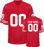 Wisconsin Badgers Style Customizable College Football Jersey
