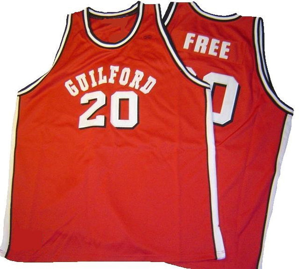 World B. Free Guilford College Quakers Basketball Jersey