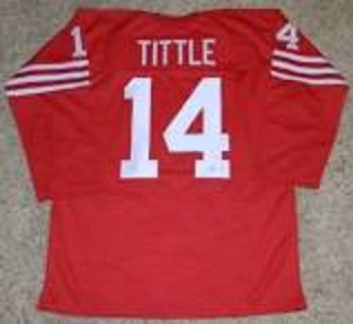 YA Tittle San Francisco 49ers Long Sleeve Football Jersey