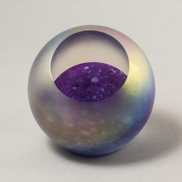 Glass Eye Studio celestial series paperweight Neptune 481F New Design