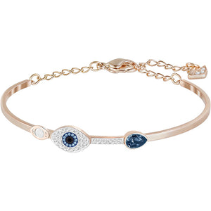 DUO EVIL EYE BANGLE, BLUE, MIXED PLATING 5171991