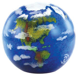 Glass Eye Studio celestial series paperweight Earth 519F 3.5""