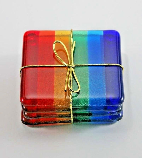 Glass Coaster Rainbow