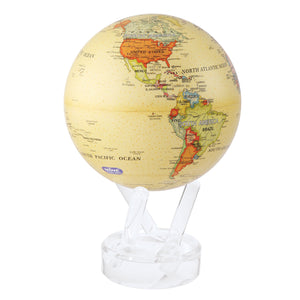 "POLITICAL MAP YELLOW 4.5"" MOVA GLOBE"