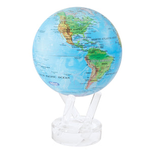 "RELIEF MAP BLUE 4.5"" MOVA GLOBE"