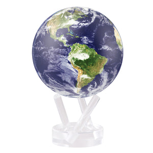 "Mova Globe 4.5"" Satellite view earth with clouds  MG-45-STE-C"