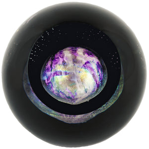 Glass Eye Studio celestial series Paperweight Pluto 511F