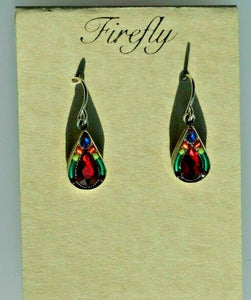FIREFLY JEWELRY 7878MC Multi COLOR EARRING New Silver Wire