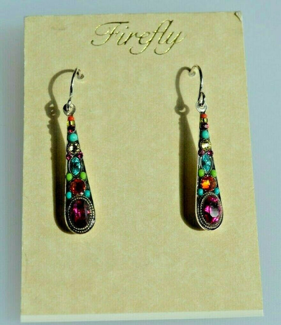 FIREFLY JEWELRY 7790MC EARRING Multi color New Silver Wire