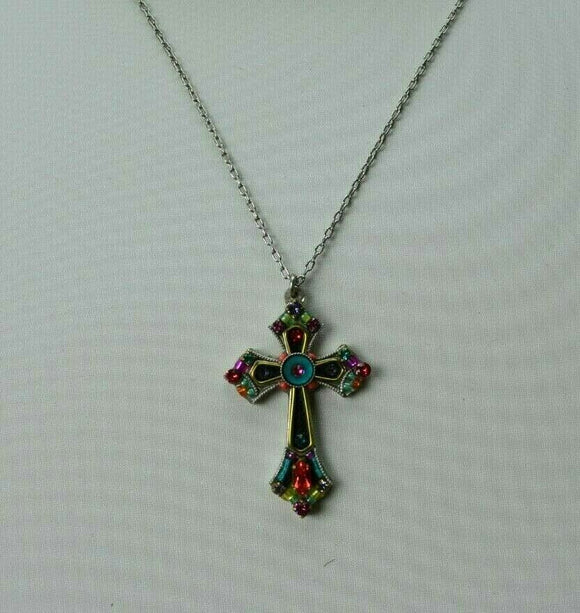 FIREFLY JEWELRY 8460MC Cross Necklace Multi Color New