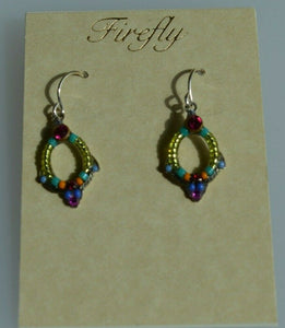 FIREFLY JEWELRY 6742MC EARRING Blue COLOR New Silver Wire