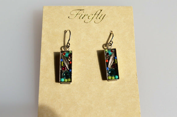 FIREFLY JEWELRY 7572MC EARRING Blue COLOR New Silver Wire