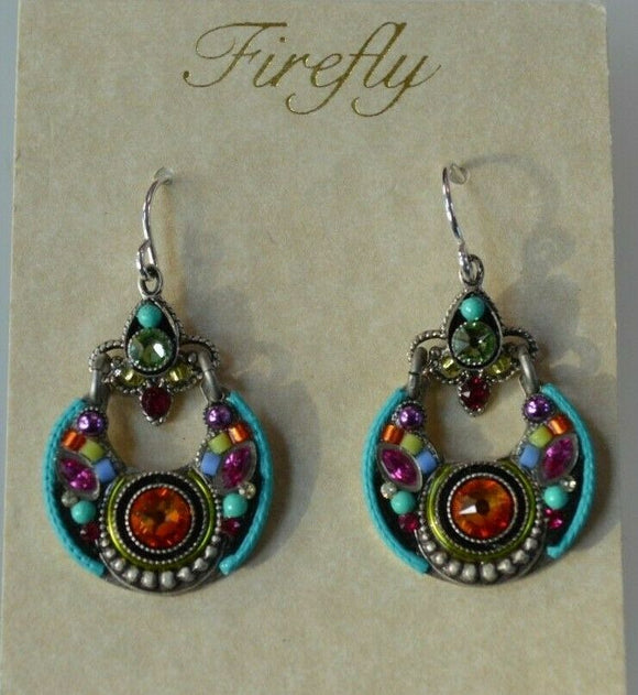 FIREFLY JEWELRY 7533-MC Multi COLOR Earring New Silver Wire