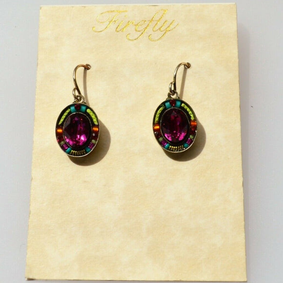 FIREFLY JEWELRY 7707FH EARRING Multi COLOR New Silver Wire