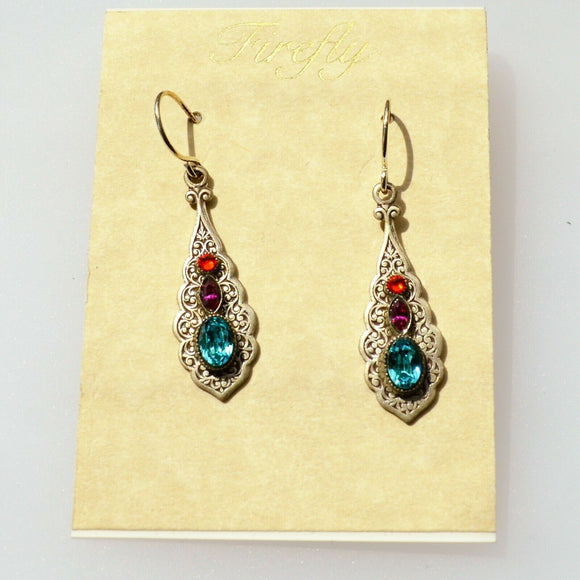 FIREFLY JEWELRY 7406MC EARRING Multi COLOR New Silver Wire