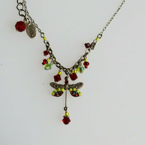 FIREFLY JEWELRY 8292R Dragonfly Necklace Multi Color New