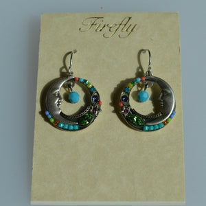 FIREFLY JEWELRY 6733MC EARRING Multi COLOR New Silver Wire