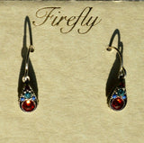 FIREFLY JEWELRY 7747RUBY EARRING Multi COLOR New Silver Wire