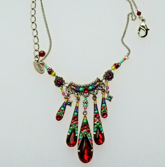 FIREFLY JEWELRY 8879-MC/SR MultiColor/ Scarlet Necklace New