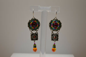 FIREFLY JEWELRY 7478MC EARRING Multi COLOR New Silver Wire