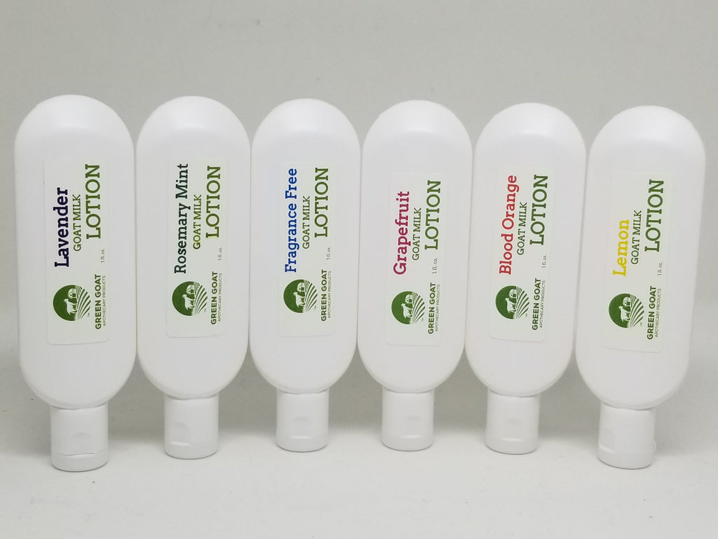6 pack of Samples of Green Goat - Goat Milk Lotion