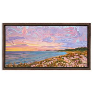 Pastel Sky - Framed Canvas Print