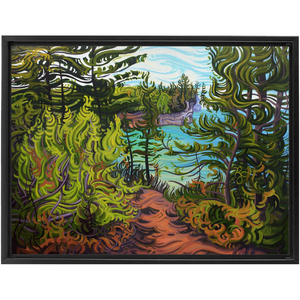 The Journey Ahead - Framed Canvas Print