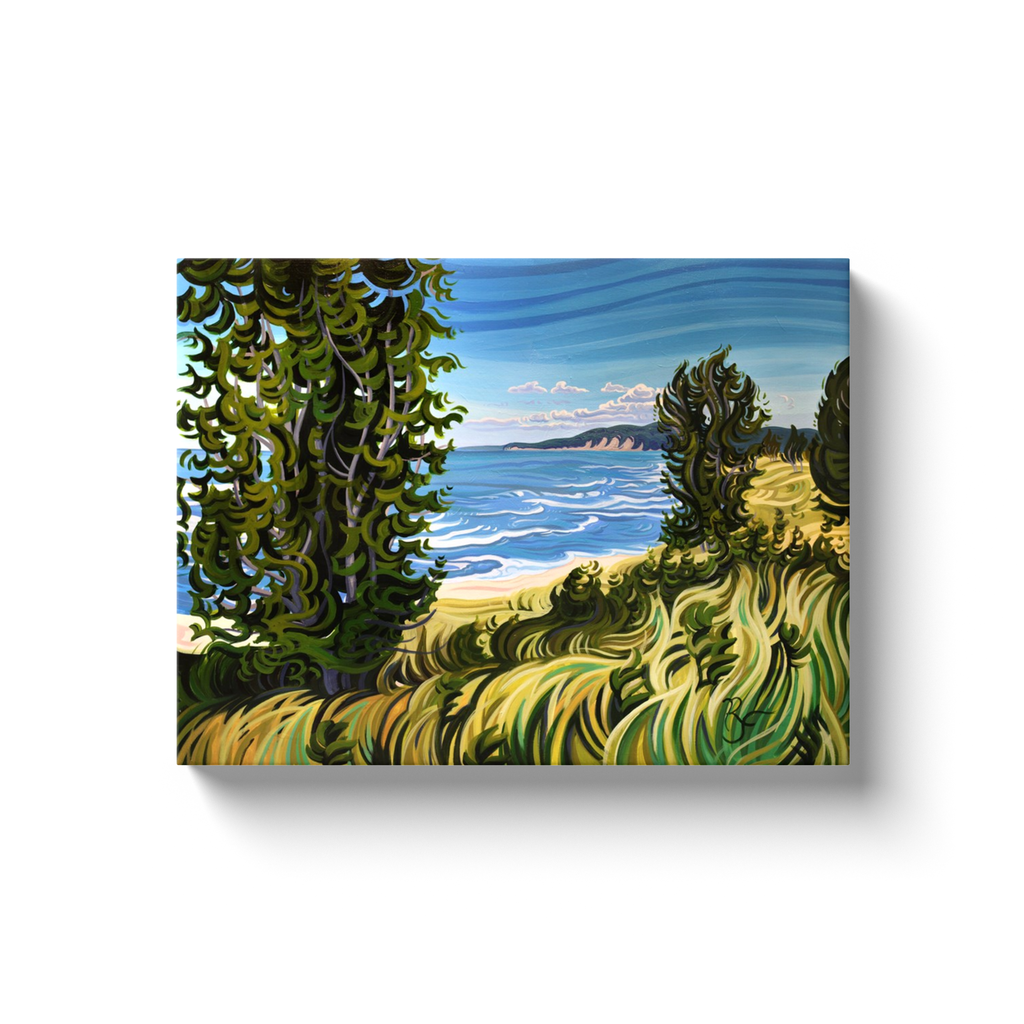 Conservation at It's Best - Oval Beach Canvas Print