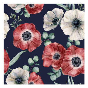 Flowery Red Canvas Print