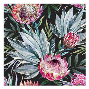 Black Floral Canvas Print