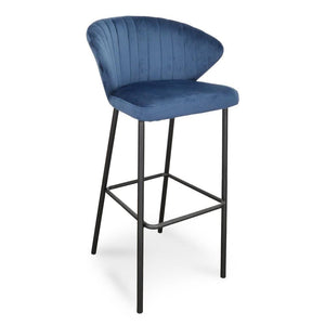 Blue Velvet Bar Stool