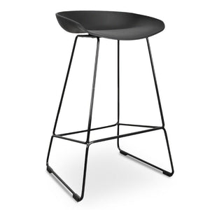 Black Steel Bar Stool