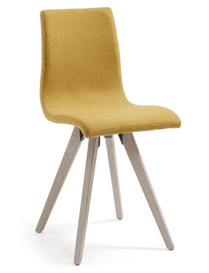 Mustard Fabric Dining Chair