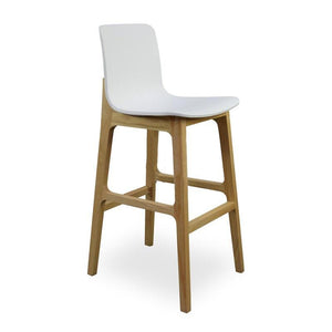 Scandi Wooden Bar Stool Seat
