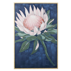 Protea Oil Framed Canvas