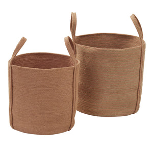 Aiden Basket Planter Pot Set