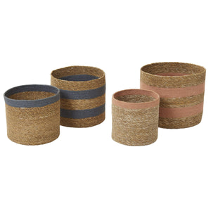 Qasim Basket Planter Pot Set