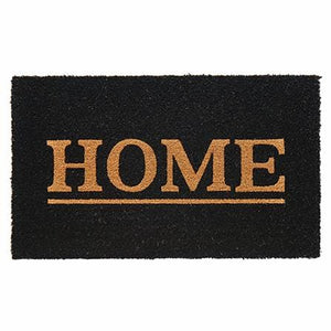 Home Black Door Mat