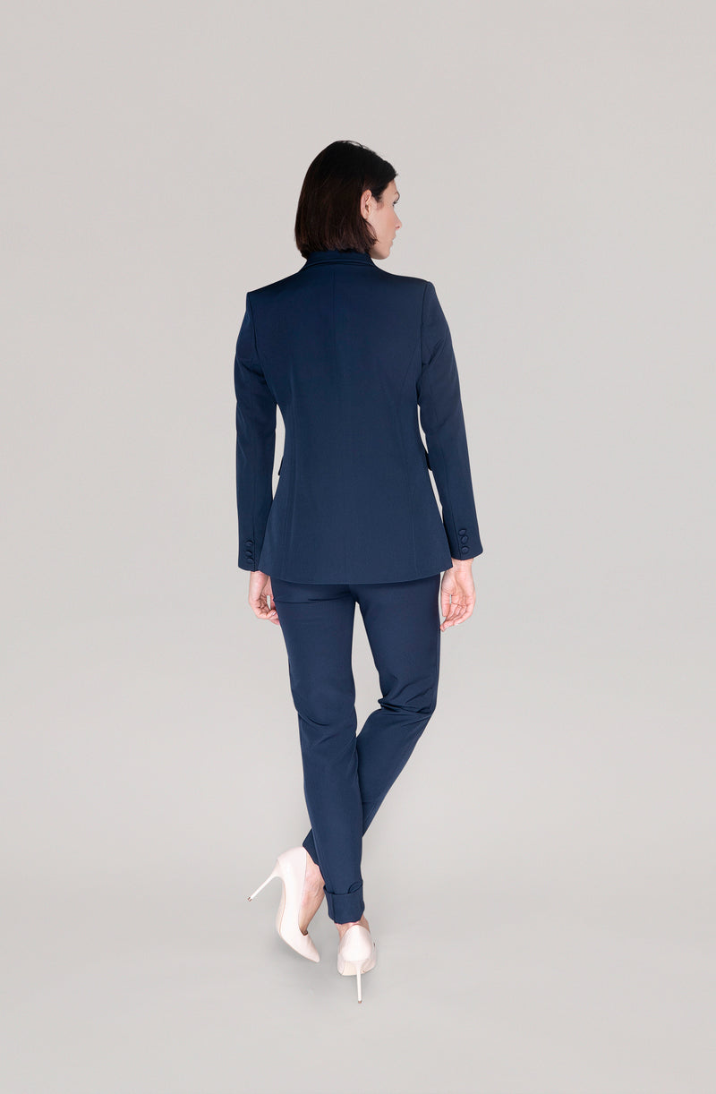 THE TURTLENECK TOP - navy blue