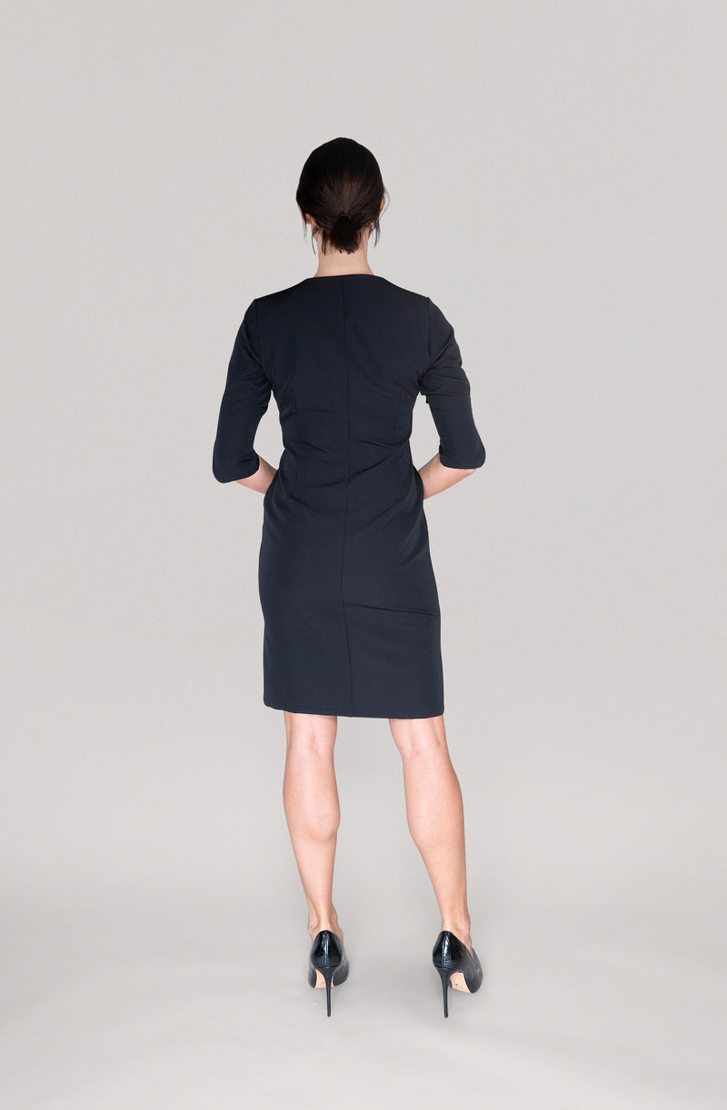THE BUTTON DRESS - black