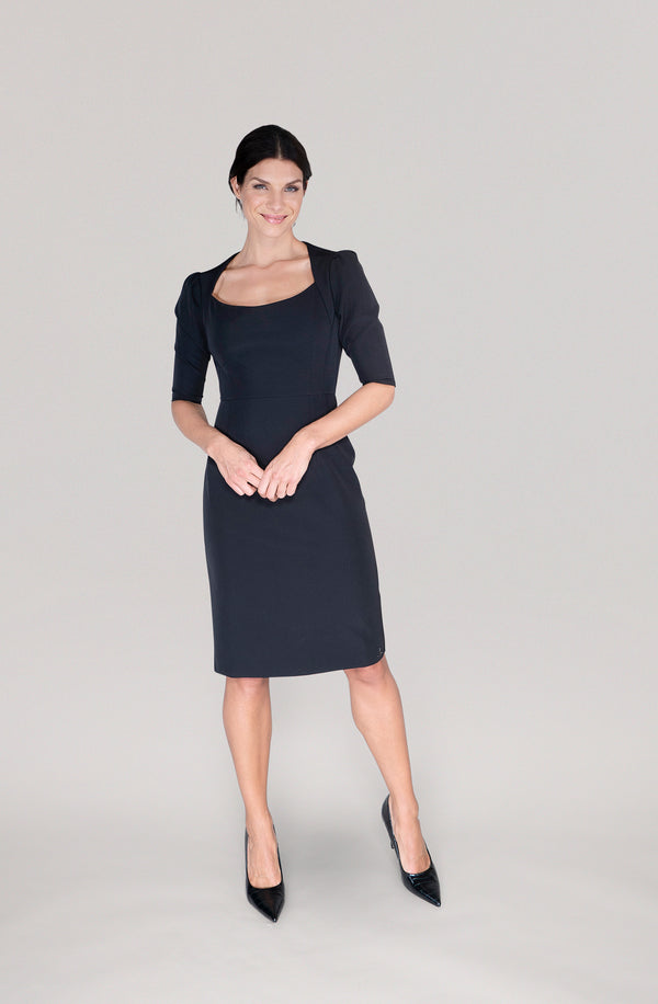 THE SHOULDER DRESS -  black