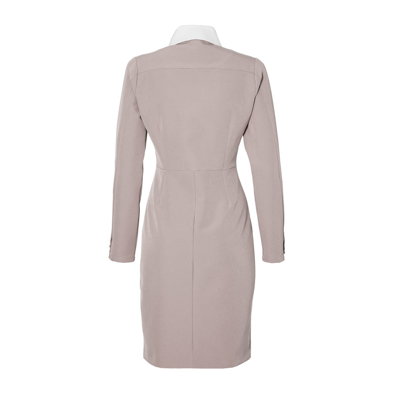 THE COLLAR DRESS - nude /off white collar
